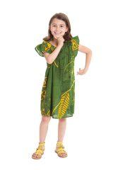 Robe pour Enfant à manches courtes Ethnique et Originale Libby Verte 279838