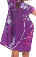 Robe pour Enfant à manches courtes Ethnique et Originale Libby Violette 279843