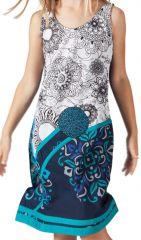 Robe pour Enfant Blanche et Bleue Ethnique et Originale Donald 280613