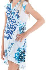 Robe pour Enfant Blanche et Bleue Sarabi Colorée et Portefeuille 280193