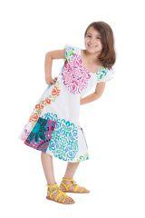 Robe pour Enfant Blanche et Multi Originale et Pas Chère Rajah 280569
