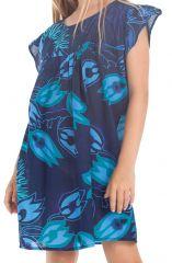 Robe pour Enfant Bleue à manches courtes Ethnique et Originale Libby 279839