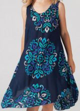 Robe pour Enfant Colorée et Originale Galanou Bleu Fonçé 277376