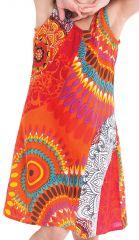 Robe pour Enfant Orange à larges bretelles très Colorée Roxy 280183