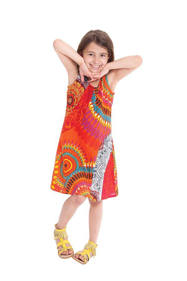 Robe pour Enfant Orange à larges bretelles très Colorée Roxy 280184