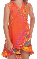 Robe pour Enfant Orange Sarabi Colorée et Portefeuille 280191