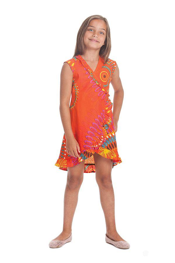 Robe pour Enfant Orange Sarabi Colorée et Portefeuille 280192