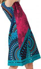 Robe pour Enfant Rose et Bleue Ethnique et Originale Donald 280610
