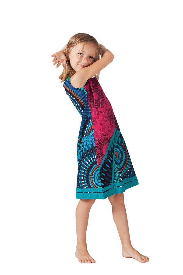 Robe pour Enfant Rose et Bleue Ethnique et Originale Donald 280611