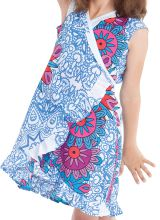 Robe pour Enfant Sarabi Colorée et Portefeuille Blanche à Mandalas 280187