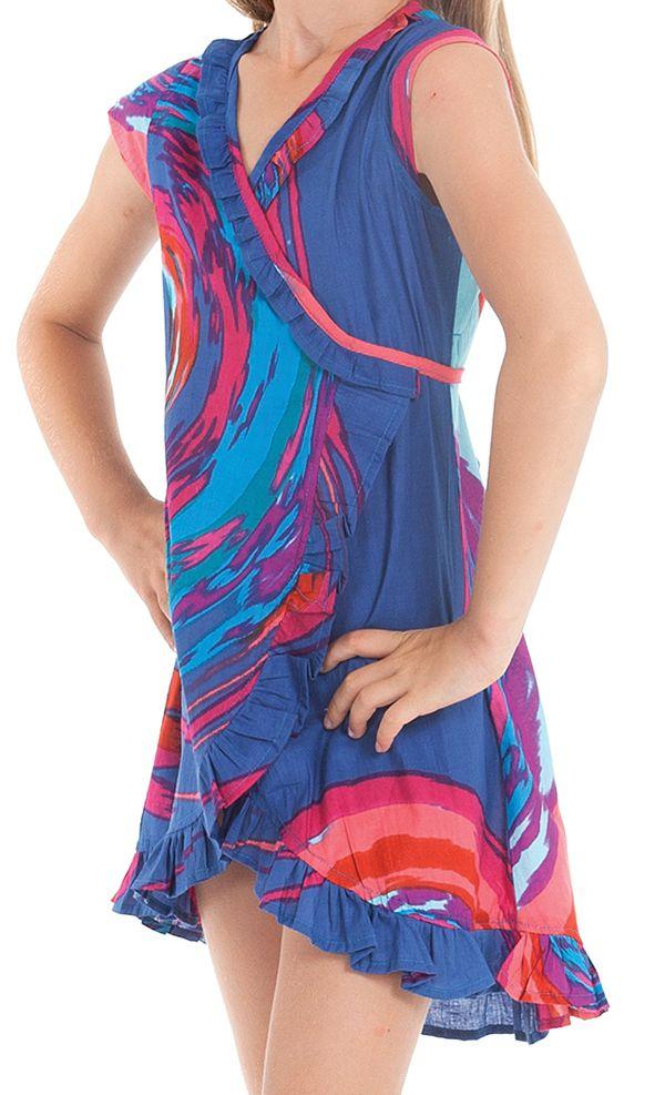 Robe pour Enfant Sarabi Colorée et Portefeuille Bleue 280185