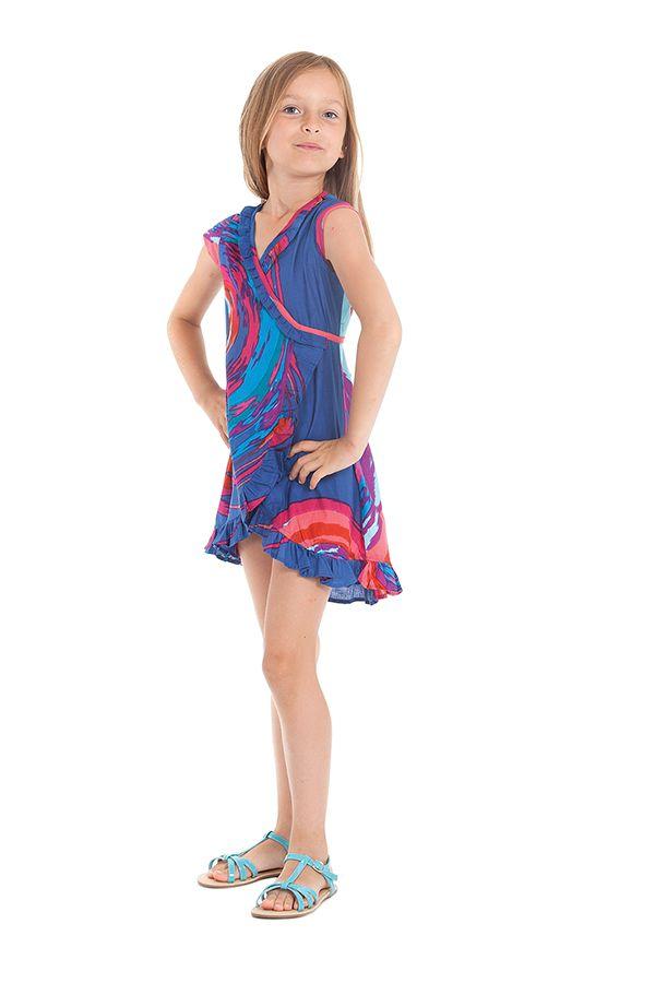 Robe pour Enfant Sarabi Colorée et Portefeuille Bleue 280186