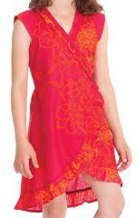 Robe pour Enfant Sarabi Rouge Colorée et Portefeuille 280197
