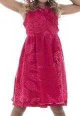 Robe pour enfant style portefeuille sans manches et imprimée Mimi 294460