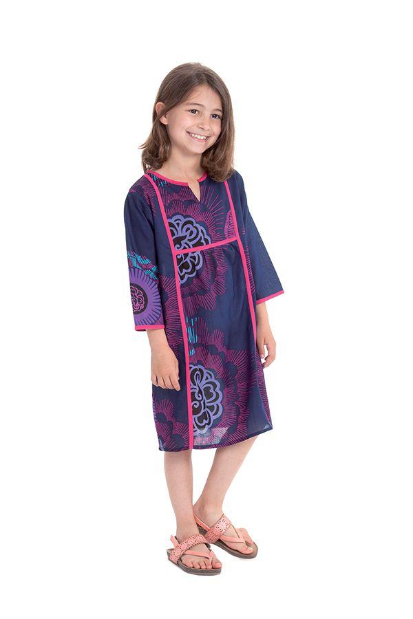 Robe pour Enfant type Orientale et Colorée Yasmine Violette 280644