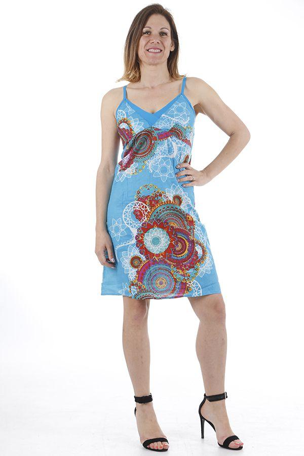 Robe pour femme à bretelles colorée et originale Elodie 311331