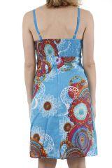 Robe pour femme à bretelles colorée et originale Elodie 311332