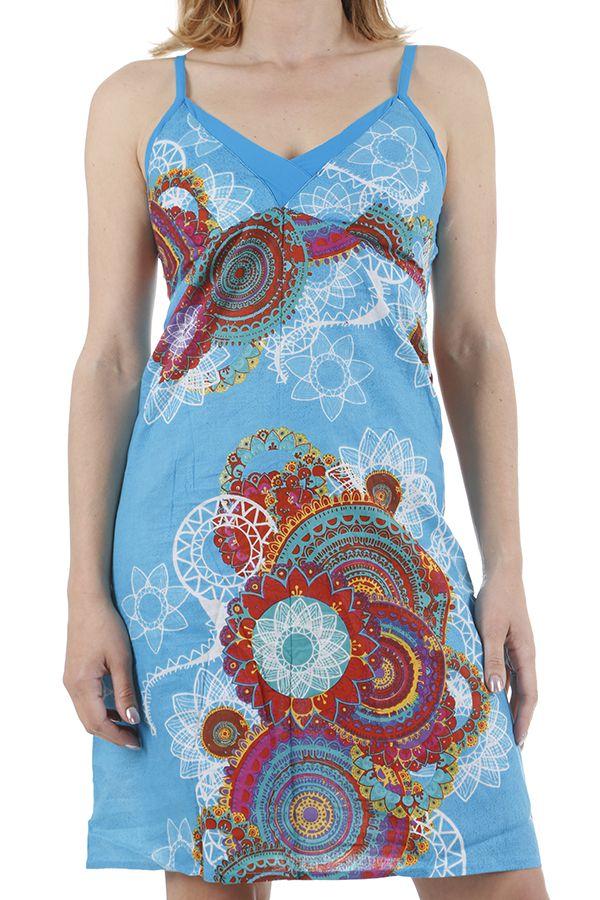 Robe pour femme à bretelles colorée et originale Elodie 311333