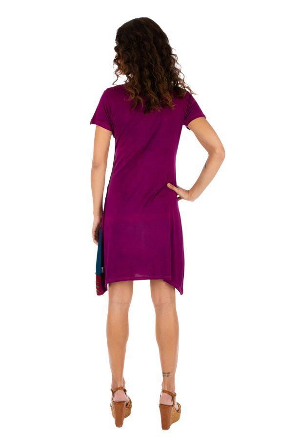 Robe pour femme à manches courtes fun et colorée Jimma rose 314219