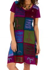 Robe pour femme à manches courtes fun et colorée Jimma rose 314220