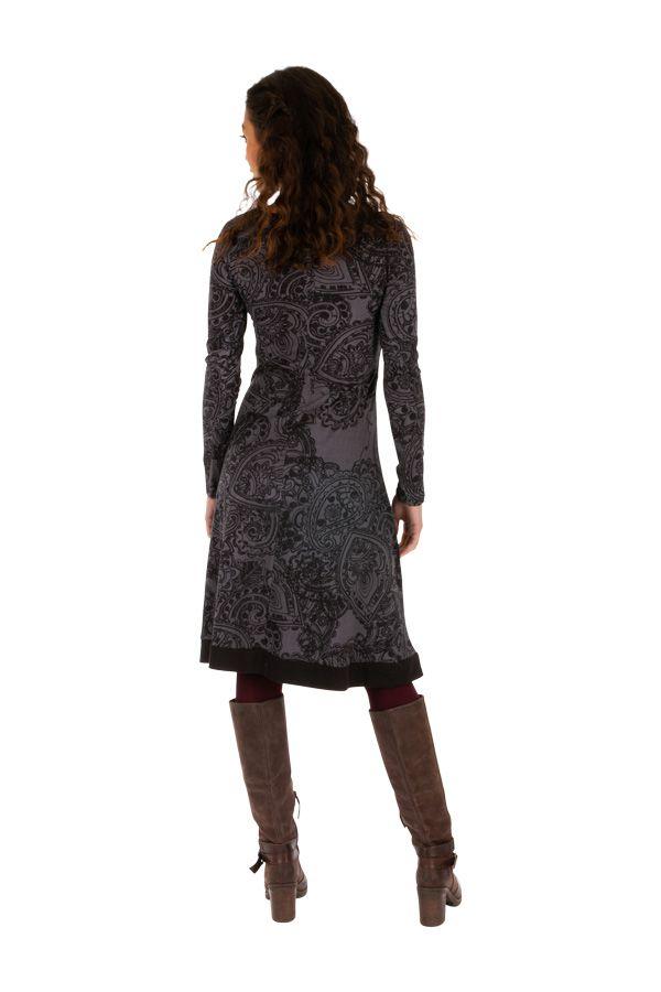 Robe pour femme à manches longues et col en V Béatrice 312645