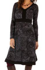 Robe pour femme à manches longues et col en V Béatrice 312646