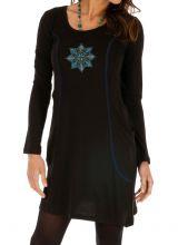 Robe pour femme bien dessinée et ornée de bleu Mayumba 312707