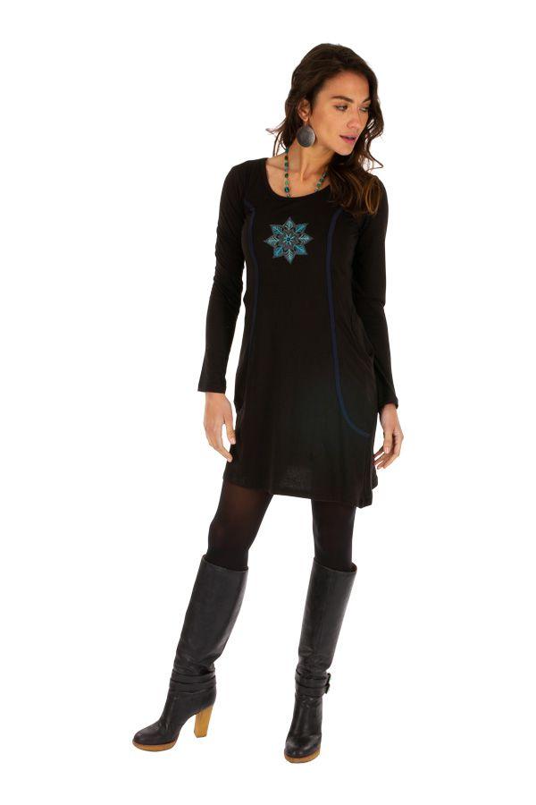 Robe pour femme bien dessinée et ornée de bleu Mayumba 312708