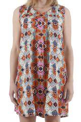 Robe pour femme d'été au col en V imprimée bohème Natalia 310430