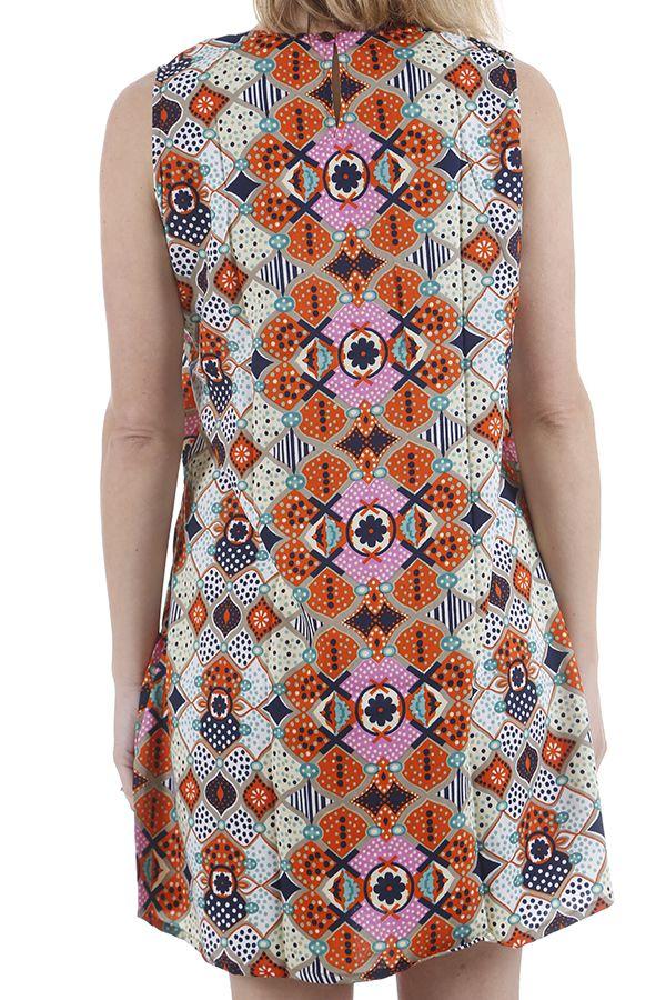 Robe pour femme d'été au col en V imprimée bohème Natalia 310431