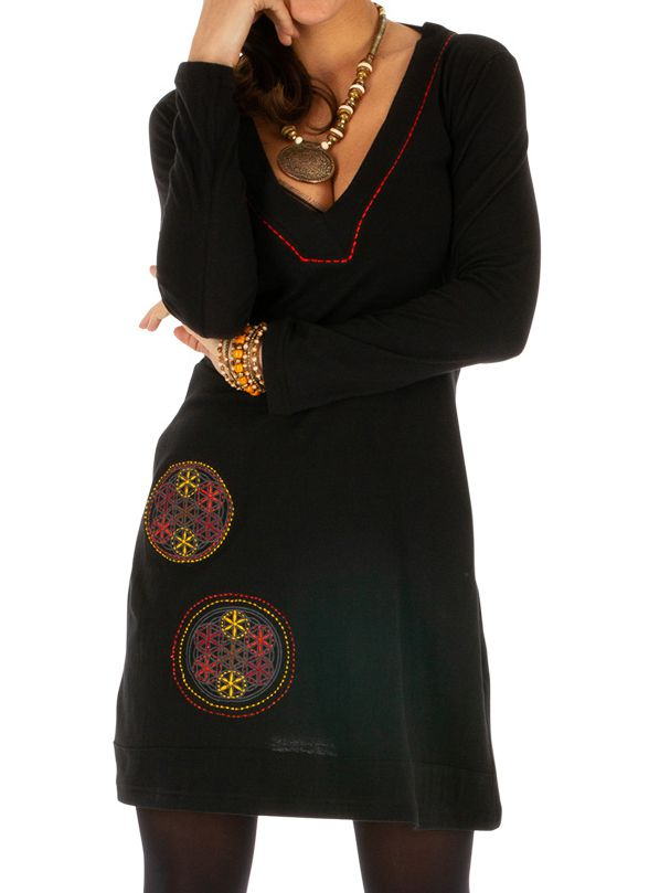 Robe pour femme ethnique et fashion avec broderies Salsa 313853