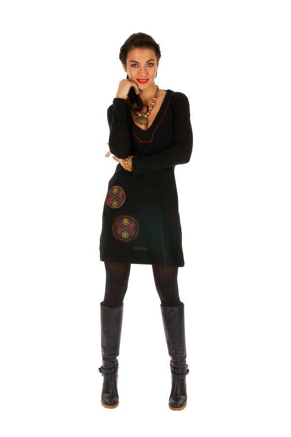 Robe pour femme ethnique et fashion avec broderies Salsa 313854