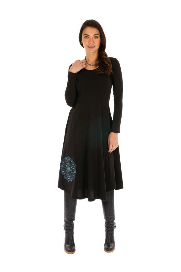 Robe pour femme mi-longue chic et originale Yaloké 313875