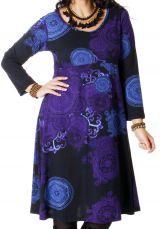 Robe pour femme pulpeuse Ethnique et Colorée Ambraza Noire 286768