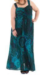 Robe pour femme pulpeuse Ethnique et Originale Sensi Verte 284226