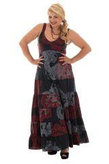 Robe pour femme ronde idéale Cérémonie Imprimée Vincenta Noire 293927