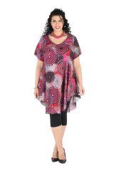 Robe pour femmes rondes coupe ample et imprimé Vintage Olive 296373