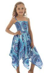 Robe pour fille à bretelles Asymétrique et Cool Louange Blanche 296130