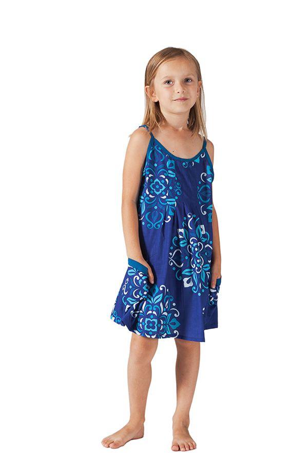 Robe pour fille à fines bretelles Originale et Ethnique Estia 280218