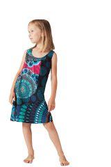 Robe pour fille à larges bretelles Originale et Ethnique Loustic 280200