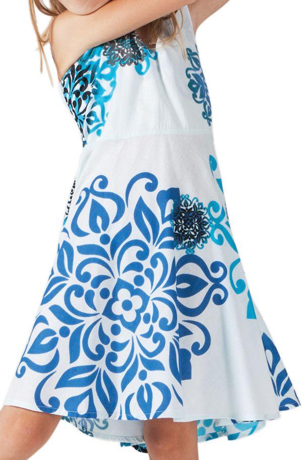 Robe pour Fille Blanche Ethnique et coupe Patineuse Scudy 280594