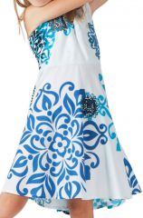 Robe pour Fille Blanche Ethnique et coupe Patineuse Scudy 280594