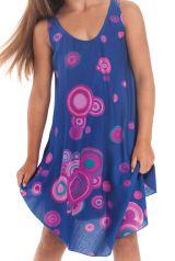 Robe pour fille Bleue à cercles de Plage et Colorée Penny 280148