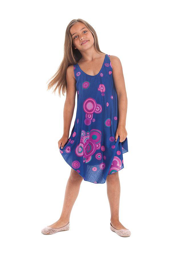 Robe pour fille Bleue à cercles de Plage et Colorée Penny 280149