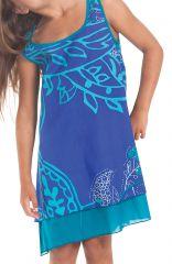 Robe pour Fille Bleue sans manches Originale et Ethnique Kopa 280126
