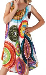 Robe pour fille de Plage et Colorée Penny Blanche à Mandalas 280205