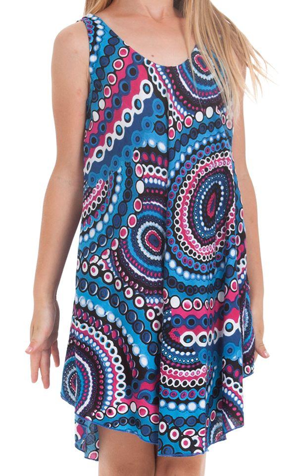 Robe pour fille de Plage et Colorée Penny Bleue à Mandalas 280154