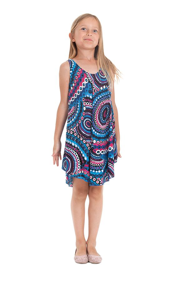 Robe pour fille de Plage et Colorée Penny Bleue à Mandalas 280155