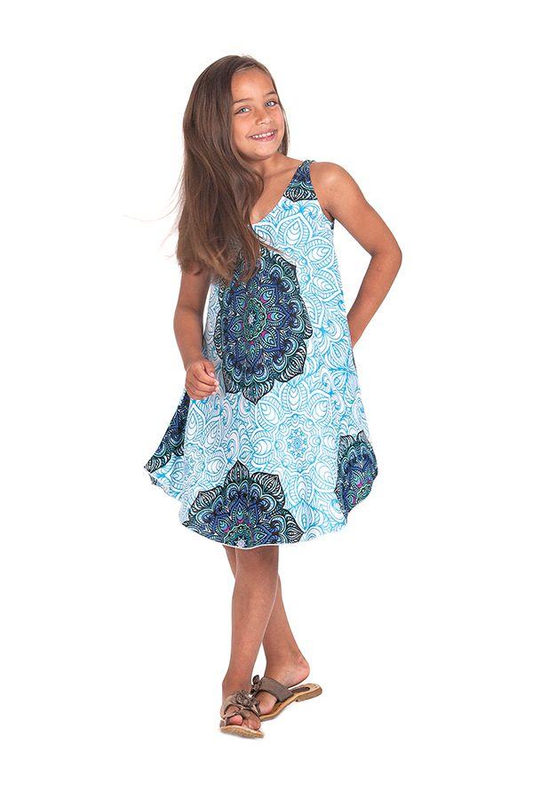 Robe pour fille de Plage et Colorée Penny Bleue Clair 280144