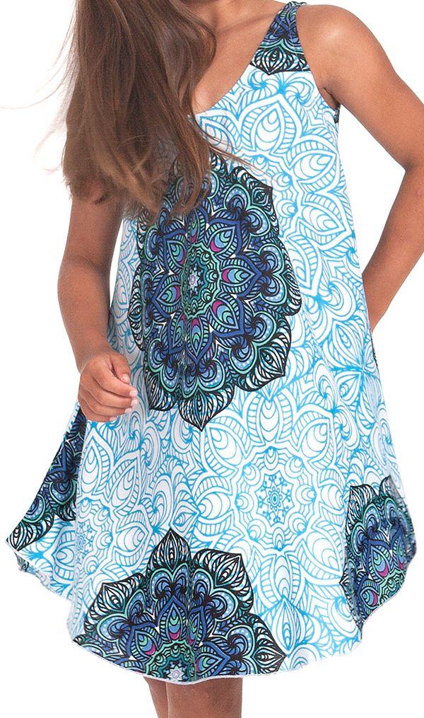 Robe pour fille de Plage et Colorée Penny Bleue Clair 280145